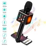 Microfono Karaoke Bluetooth  Wireless da  3.5mm con AUX Smooce
